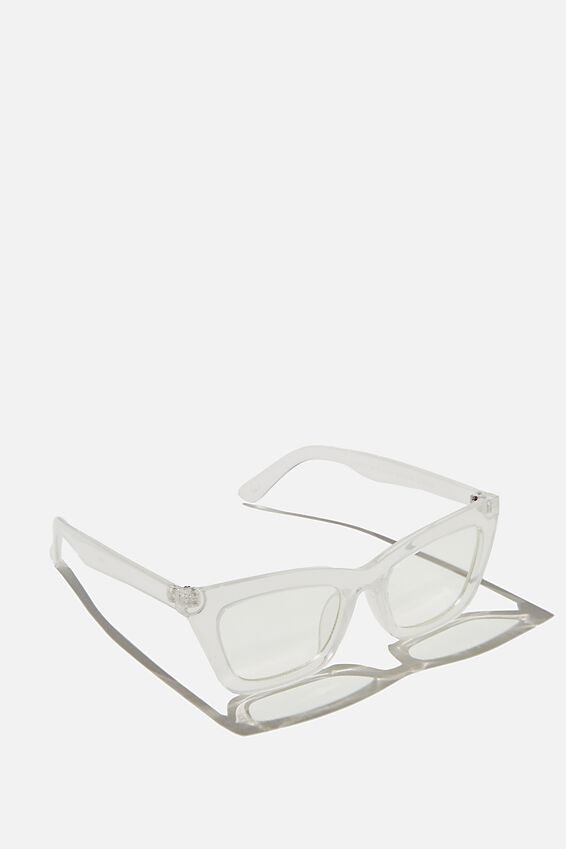 Lyndsey Blue Light Blocking Glasses, CLEAR CRYSTAL