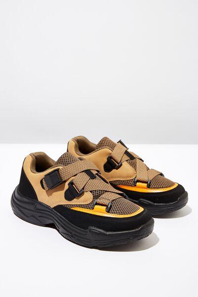 Whitney Chunky Sneaker, CAMEL/BLACK MULTI