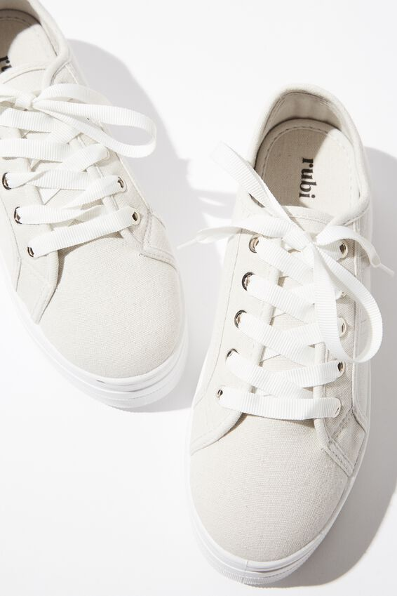 Willow Platform Sneaker, LIGHT GREY CANVAS