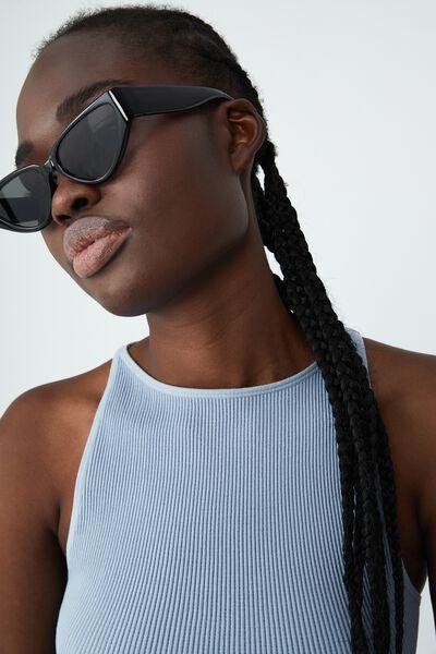 Molly Cateye Sunglasses, BLACK