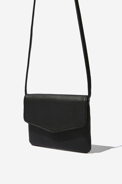 Mikalea Cross Body Bag, BLACK