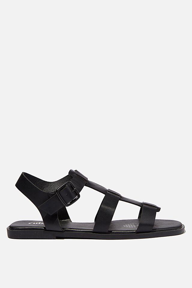 Marley Chunky Gladiator Sandal, BLACK PU