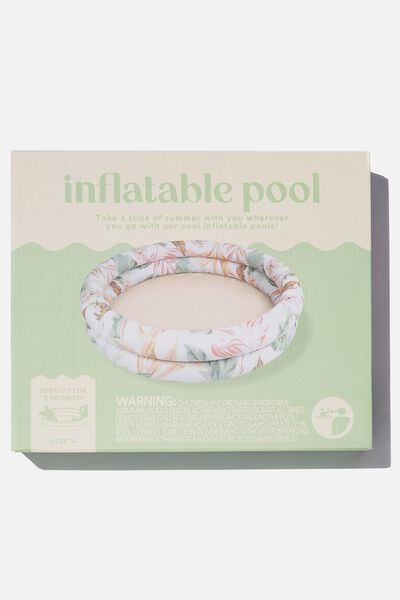Inflatable Pool, ALEX TROPICAL SAGE WHITE