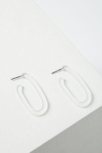 Maui Earring, FROSTED CLEAR