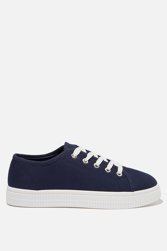 Chelsea Creeper Plimsoll, NAVY CANVAS