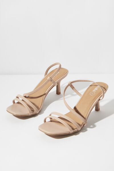 Lara Strappy Stilletto, PALE TAUPE SMOOTH