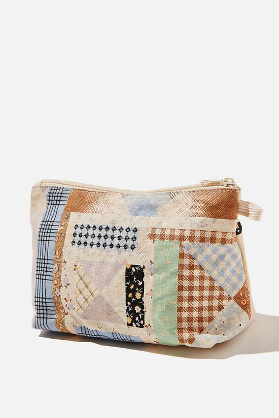 Cosmetic Pouch, PATCHWORK