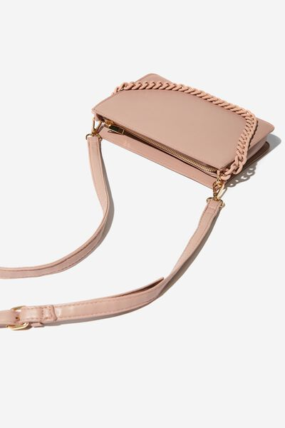 In Chains Cross Body Bag, BLUSH PEBBLE