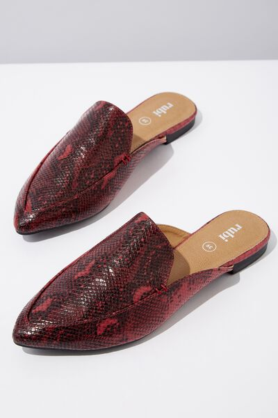 Petra Point Mule, RASPBERRY NATURAL PRINT