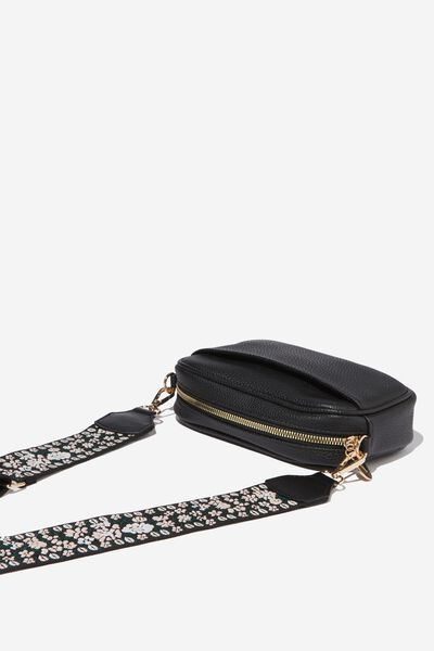 Webbing Tape Long Bag Strap, FLORAL