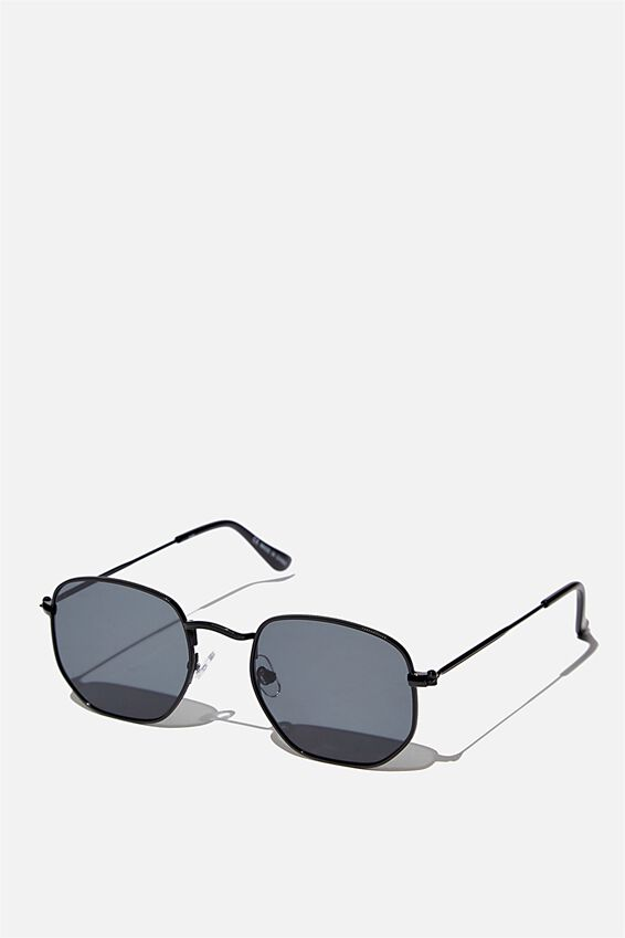 Erika Sunglasses, METAL BLACK  BLACK