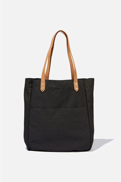 Olive Carryall Tote Bag, BLACK