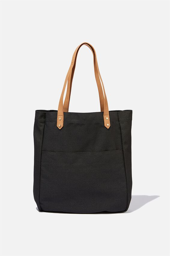 Olive Carryall Tote Bag, BLACK