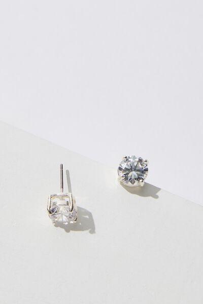 Twinkle Bling & Glow Diamante Stud, SILVER