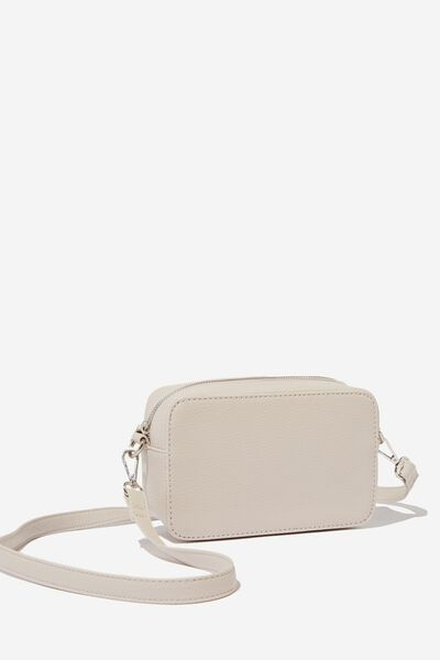 Stevie Boxy Cross Body Bag, STONE