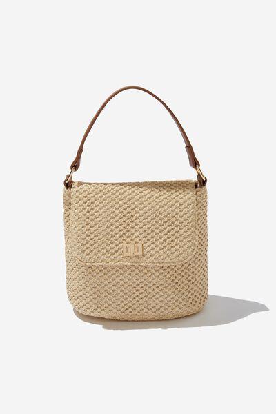 Harper Hand Bag, NATURAL WOVEN