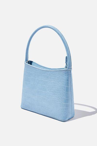 Elke Cross Body Bag, BLUE TEXTURE