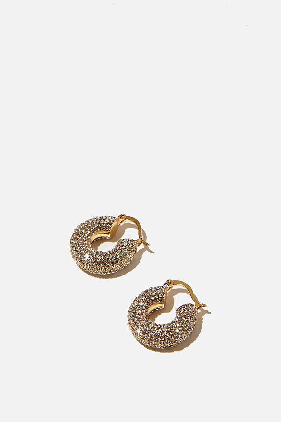Premium Sparkle Hoop, GOLD