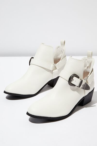 Zion Western Harness Boot, WHITE TEXTURE