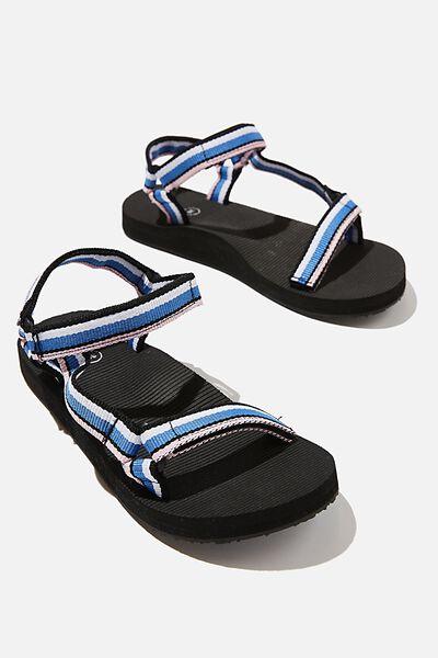 Stormy Sporty Sandal, BLUE STRIPE