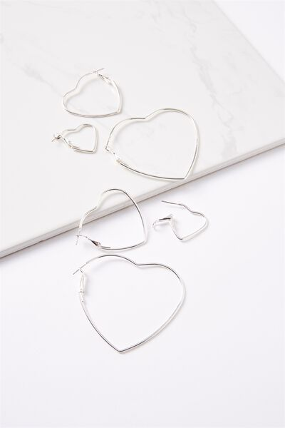 Mia Graduated Hearts Core Multi Pack, SILVER