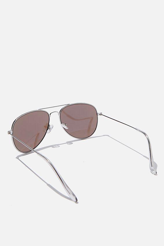 Arabella Metal Sunglasses, BLUE REVO