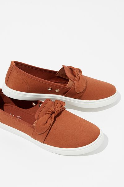 Belle Bow Slip On, RUST