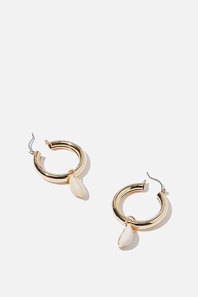 Chunky Bondi Hoop Earring, GOLD