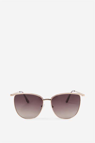 Phoenix Brow Bar Sunglasses, GOLD/GRAD LEN