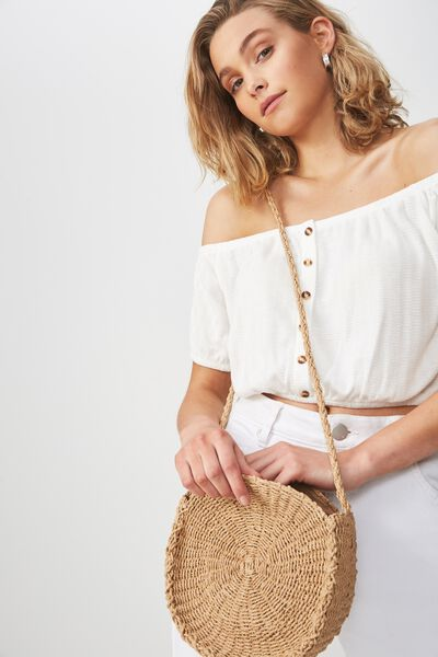 Summer Circle Bag, NATURAL