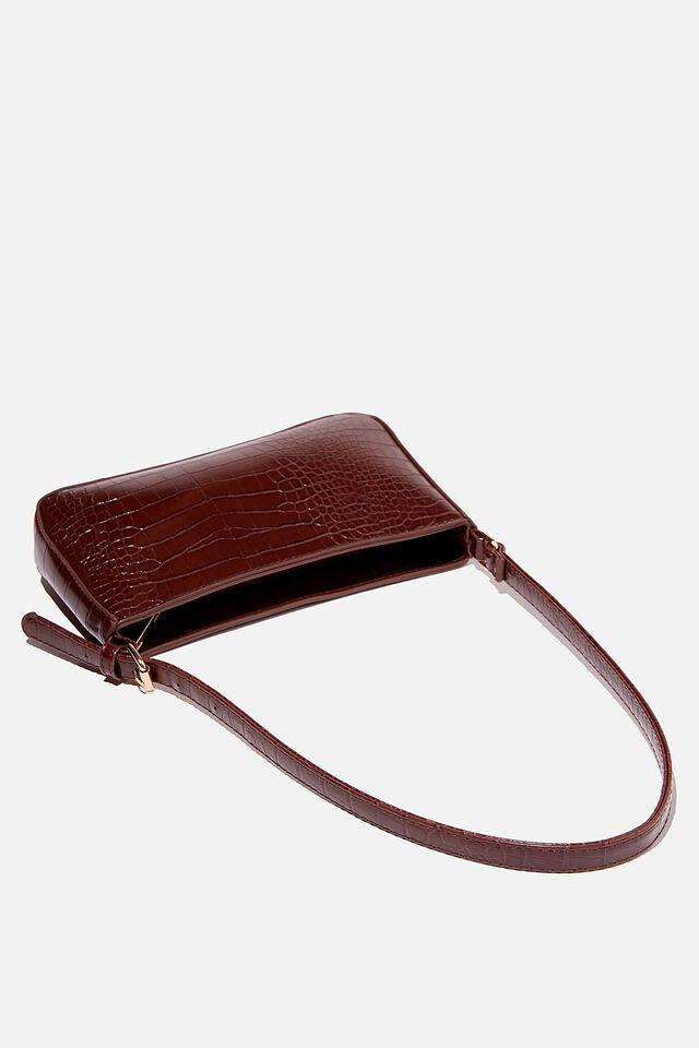 Lexi Underarm Bag, BROWN TEXTURE