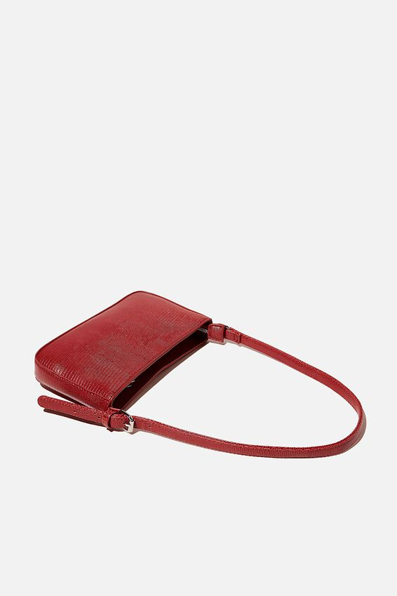 Lexi Underarm Bag, LUCKY RED TEXTURE