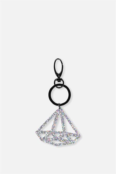Diamond Bag Charm, HOLOGRAPHIC GLITTER