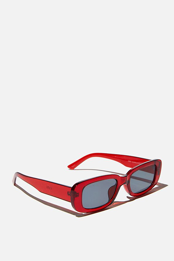 Abby Sunglasses, RED/ SMOKE