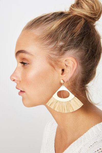 Carribean Dream Earring, CREAM/GOLD