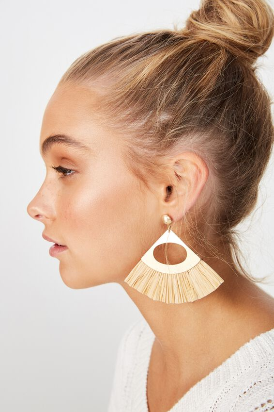 Carribean Dream Earring, CREAM/GOLD