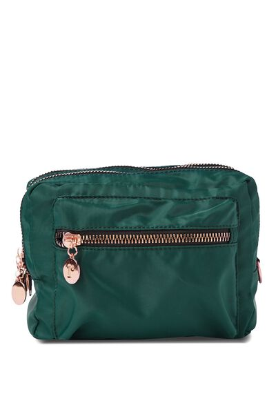 Budapest Large Cosmetic Case, JUNGLE GREEN
