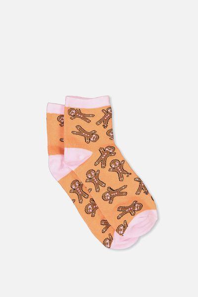 Fun Sock, GINGERBREAD MAN