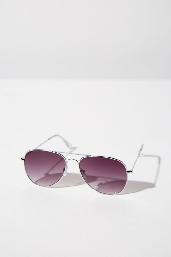 Arabella Metal Sunglasses, SILVER