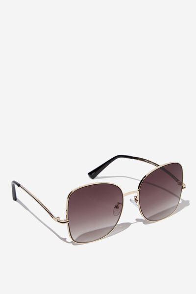 Khloe Oversized Sunglasses, S.GOLD/BLACK