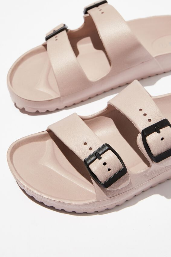 Gilmore Double Buckle Slide, NEW DUSTY ROSE