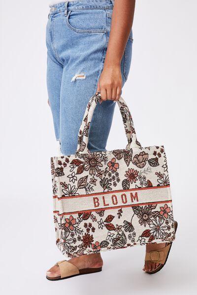 Weekender Tote Bag, FLORAL/BLOOM