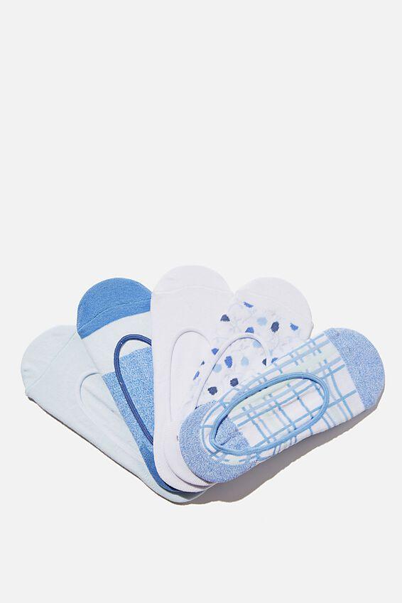 5Pk Low Cut Sock, TRANQUIL TEAL MIX
