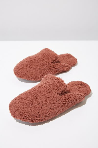 Poppy Slipper Scuff, HAZEL TEDDY