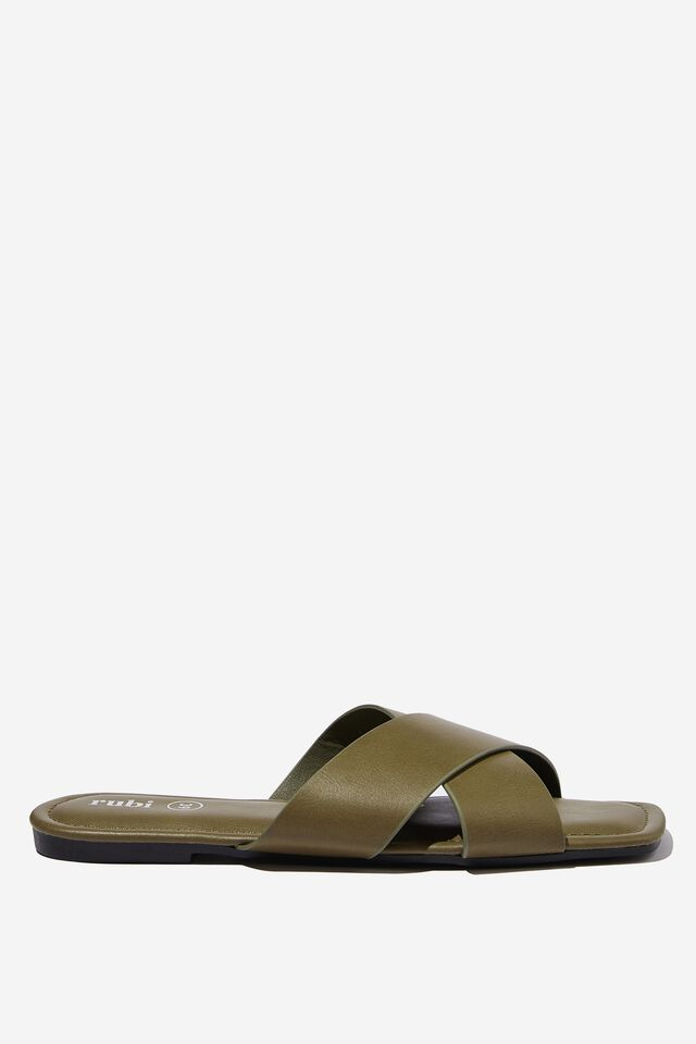 Everyday Sophie Xover Slide, SOFT MOSS SMOOTH PU