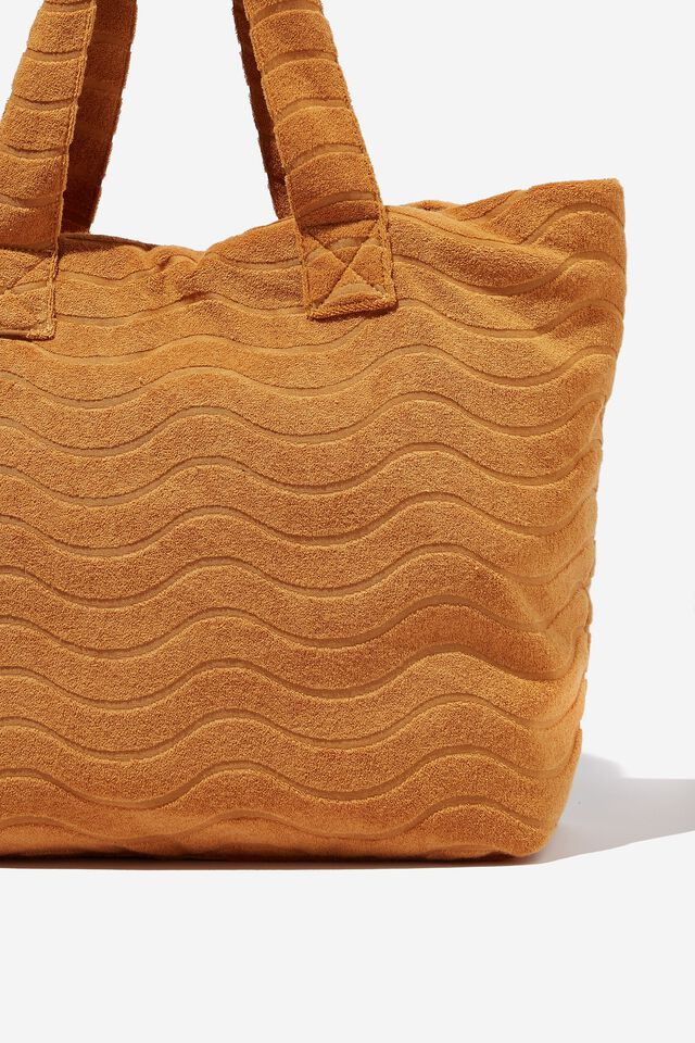 Textured Tote, BRONZED BROWN