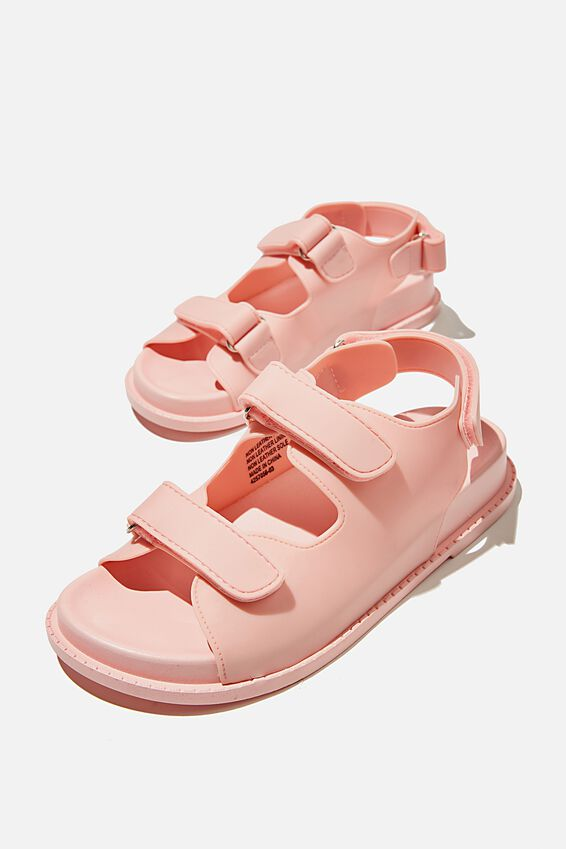 Mimi Moulded Sporty Sandal, PINK