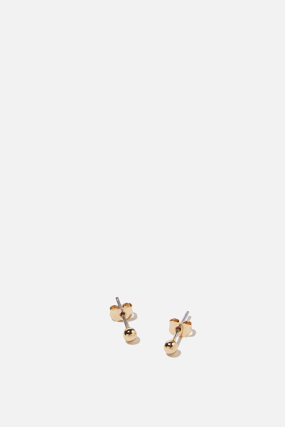 Premium Stud Earrings, GOLD PLATED BALL
