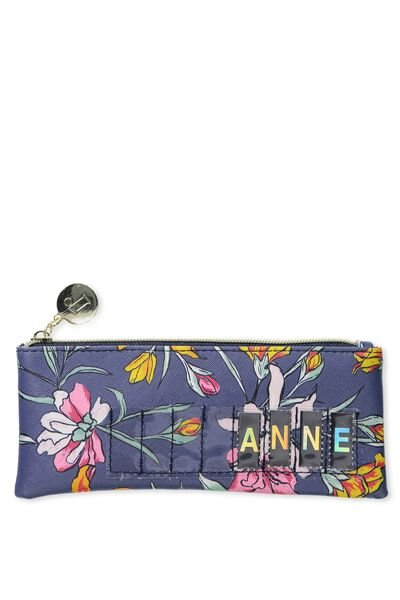 Personalised Mini Cosmetic Case, TROPICAL BOUQUET-MOONLIGHT