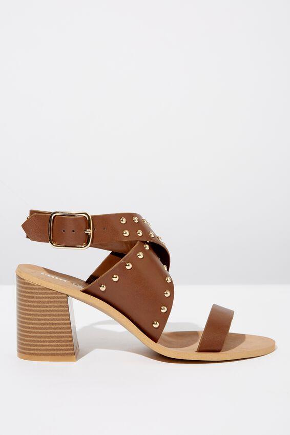Gabriella Sock Board Heel, CHOC SMOOTH